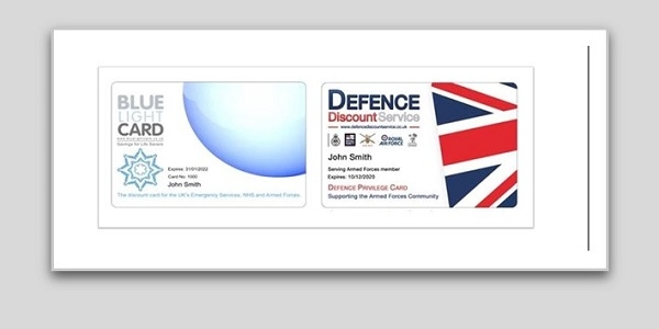 Exclusive Offer for holders of a Blue Light Card or Defence Discount Card