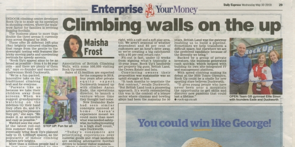 Climbing walls on the up!